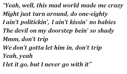 "Lyrics of ""Blue World"""