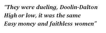 """Lyrics of """"Doolin-Dalton"""""""