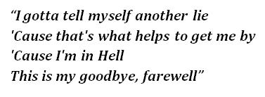 "Lyrics of ""Farewell"""