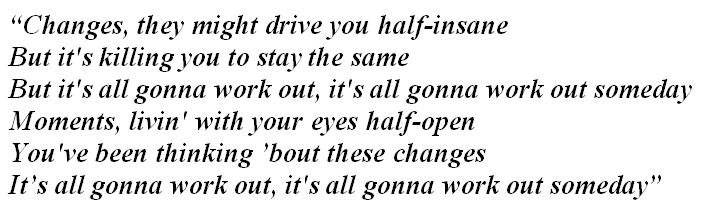 "Lyrics of ""Changes"""