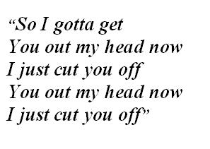 """Lyrics of """"Cut You Off"""""""