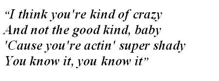 "Lyrics of ""Kinda Crazy"""