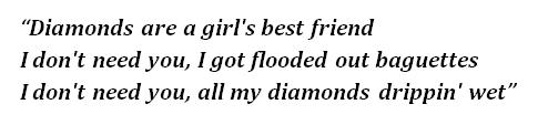 "Lyrics of ""Diamonds"""