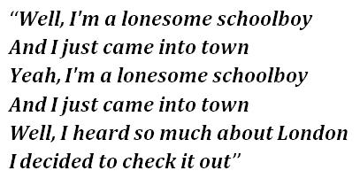"""Lyrics of """"Schoolboy Blues"""""""