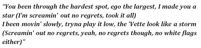 """Lyrics of """"No Regrets"""""""