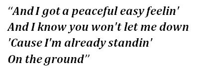 """Lyrics of """"Peaceful Easy Feeling"""""""