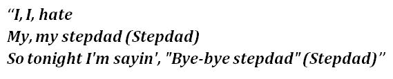"Lyrics of ""Stepdad"""