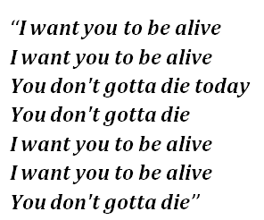 "Lyrics of ""1-800-273-8255"""