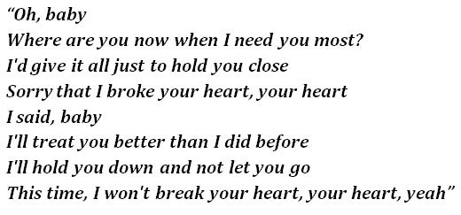 "Lyrics of ""After Hours"""