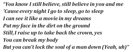 """Lyrics of """"Believe"""""""