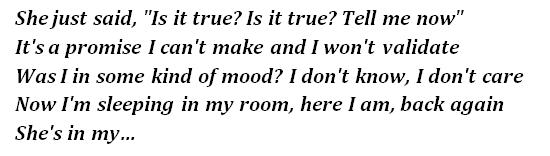 "Lyrics of ""Is It True"""