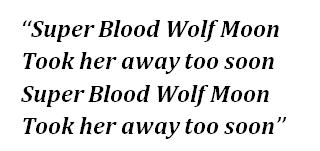 """Lyrics of """"Superblood Wolfmoon"""""""