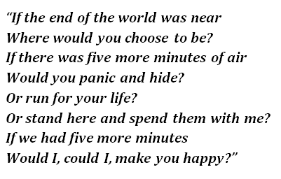 "Lyrics of ""The End of the World"""
