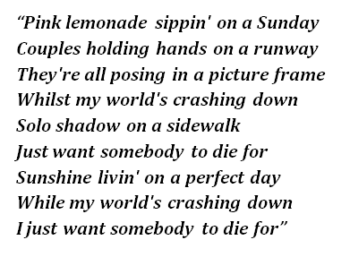 "Lyrics of ""To Die For"""