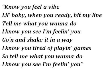 "Lyrics of ""Vibe"""