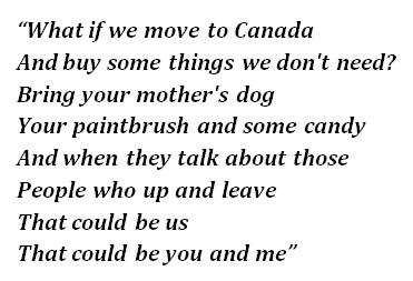 "Lyrics of ""Canada"""