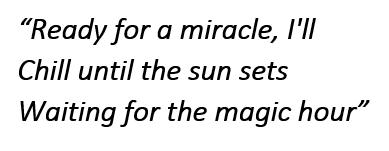 "Lyrics of ""Magic Hour"""
