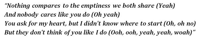 "Lyrics of ""Nothing Compares"""