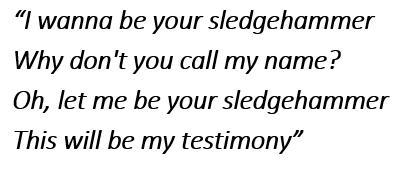 "Lyrics of ""Sledgehammer"""