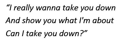 """Lyrics of """"The Take"""""""