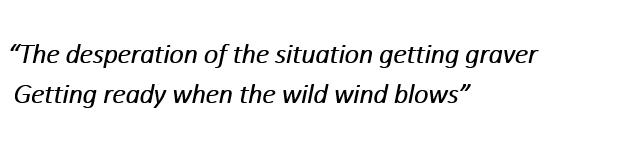 "Lyrics of ""When the Wild Wind Blows"""