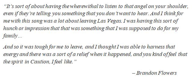 """Brandon Flowers talks about """"Caution"""""""