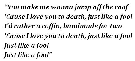 "Lyrics of ""Coffin"""