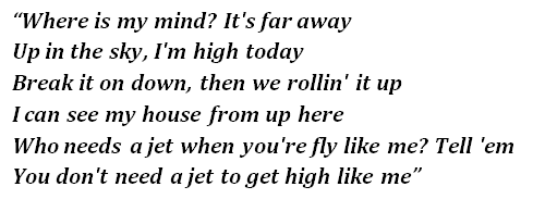 "Lyrics of ""High Today"""
