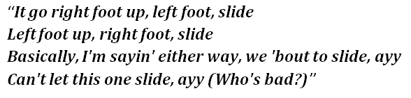 """Lyrics of """"Toosie Slide"""""""