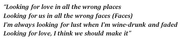 "Lyrics of ""Wrong Places"""