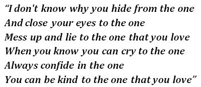"""Lyrics of """"Be Kind"""""""