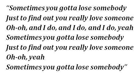 """Lyrics of """"Lose Somebody"""""""