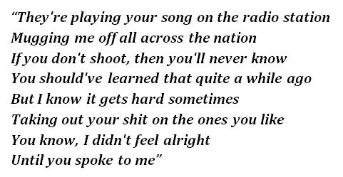 "Lyrics of ""Roadkill"""