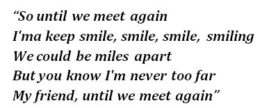 "Lyrics of ""Until We Meet Again"""