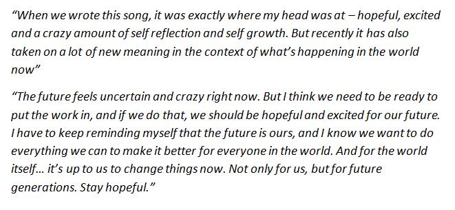 "Billie Eilish talks about ""My Future"""