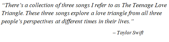 Taylor Swift explains Love Triangle in Betty.