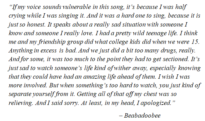 "Beabadoobee's talks about ""Sorry"""