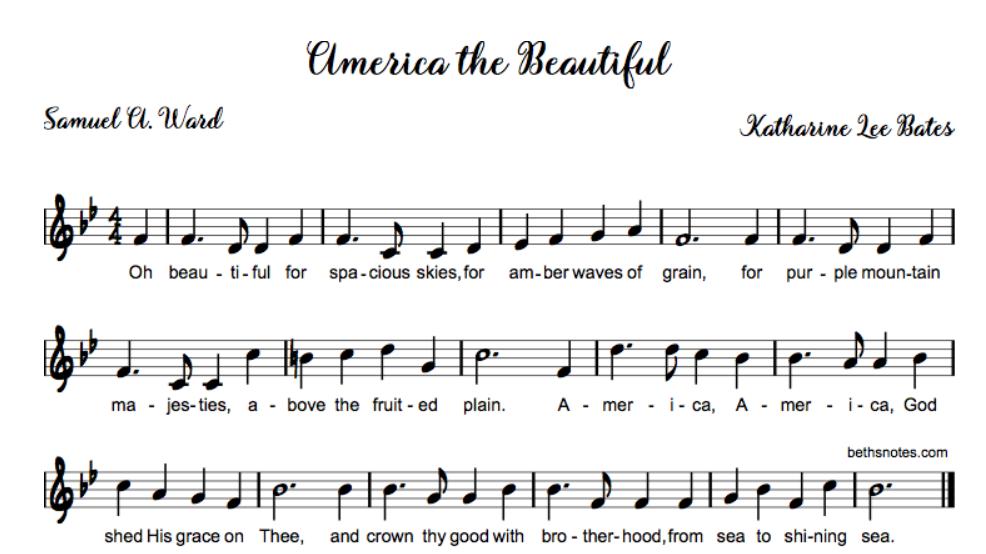 America the Beautiful lyrics