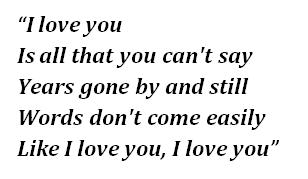 "Lyrics of ""Baby Can I Hold You"""