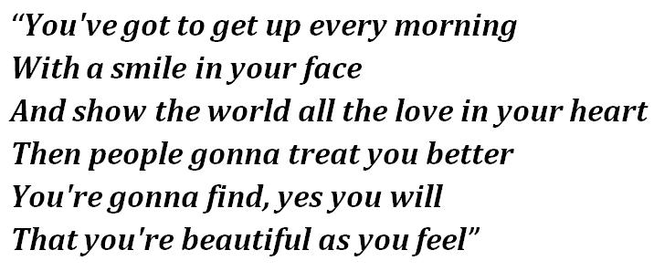 "Lyrics ""Beautiful"""