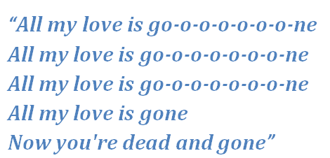 """Lyrics of """"Gone"""""""
