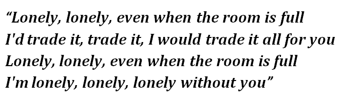 "Lyrics of ""Lonely"""