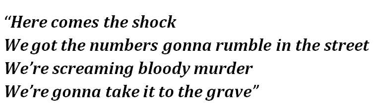 """Lyrics of Green Day's """"Here Comes the Shock"""""""