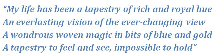 """Lyrics of """"Tapestry"""""""