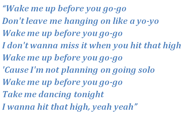 Wake Me Up Before You Go Go By Wham Song Meanings And Facts