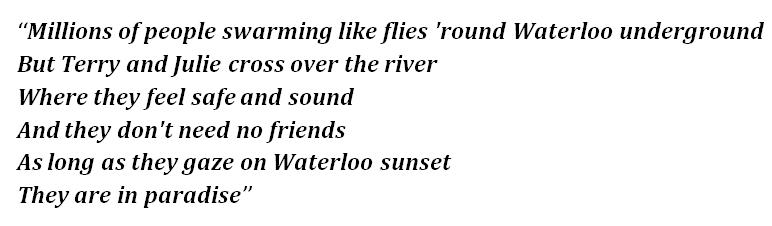 Lyrics of Waterloo Sunset