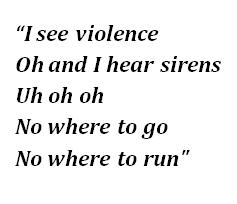 "Lyrics of ""Apocalypse"""