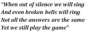 """Lyrics of """"Broken Bells"""""""