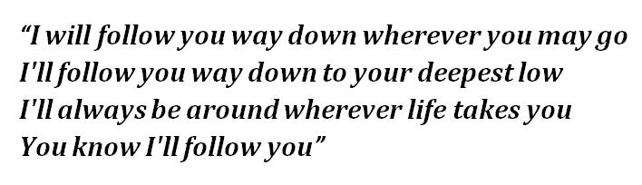 """Lyrics of """"Follow You"""""""