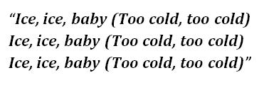 Ice Ice Baby lyrics